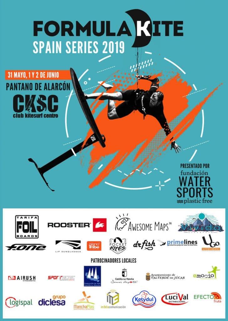 Poster Formula Kite Spain Series Alarcón 2019